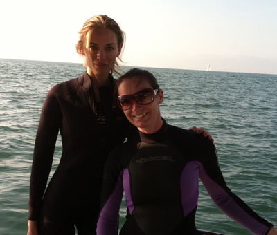 scuba diving with amber arbucci