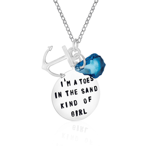 I am a Toes in the Sand Kind of Girl Necklace 750ecddb1